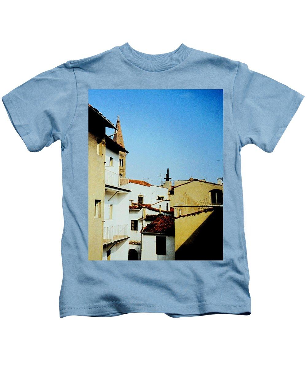 Lisbon Kids T-Shirt featuring the photograph Lisbon Angles by Ian MacDonald