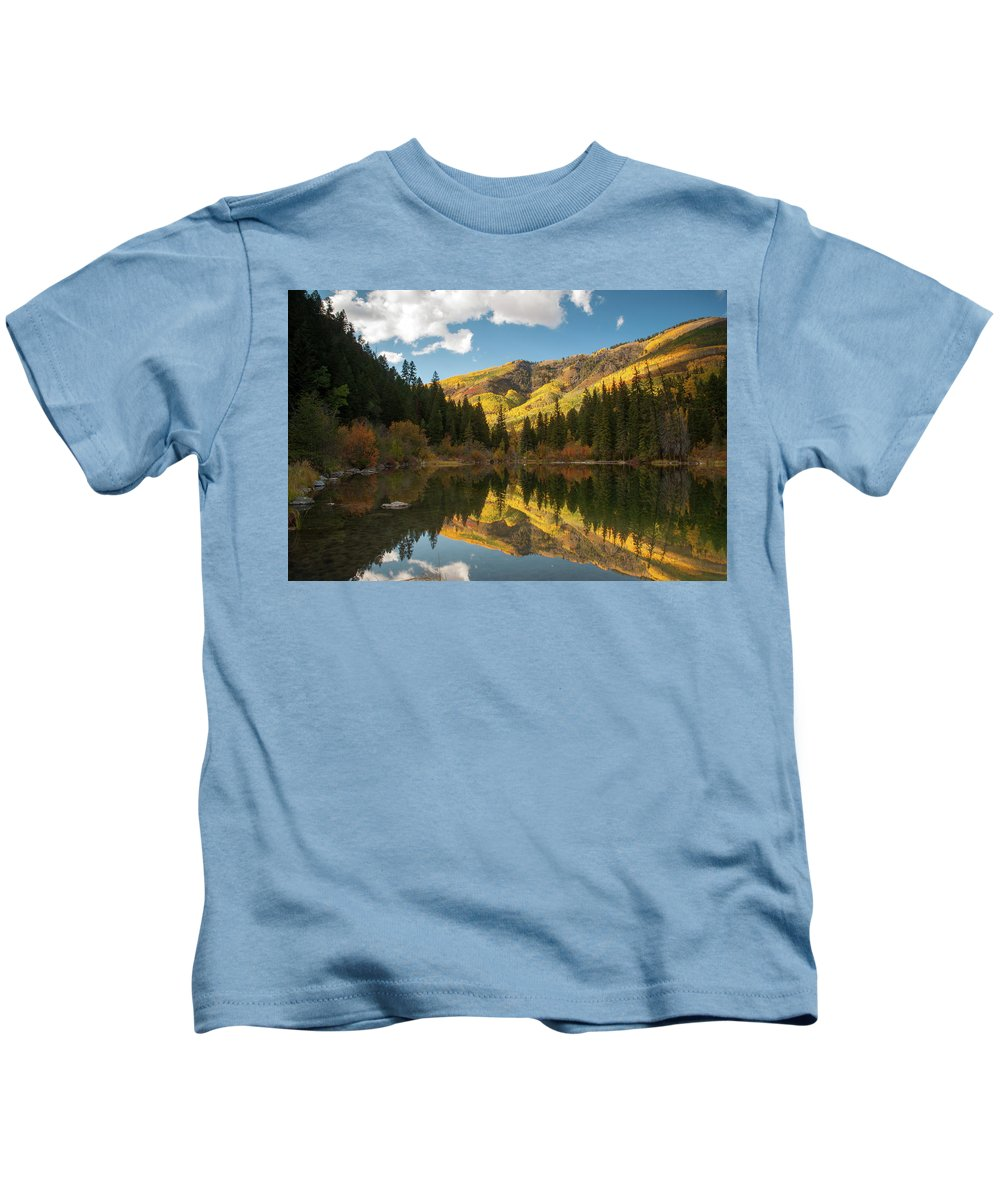 Colorado Kids T-Shirt featuring the photograph Lizard Lake by Steve Stuller