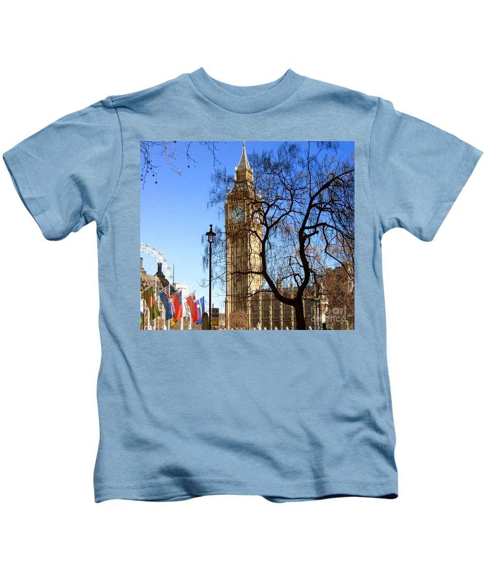 London Kids T-Shirt featuring the photograph London's Big Ben by Madeline Ellis