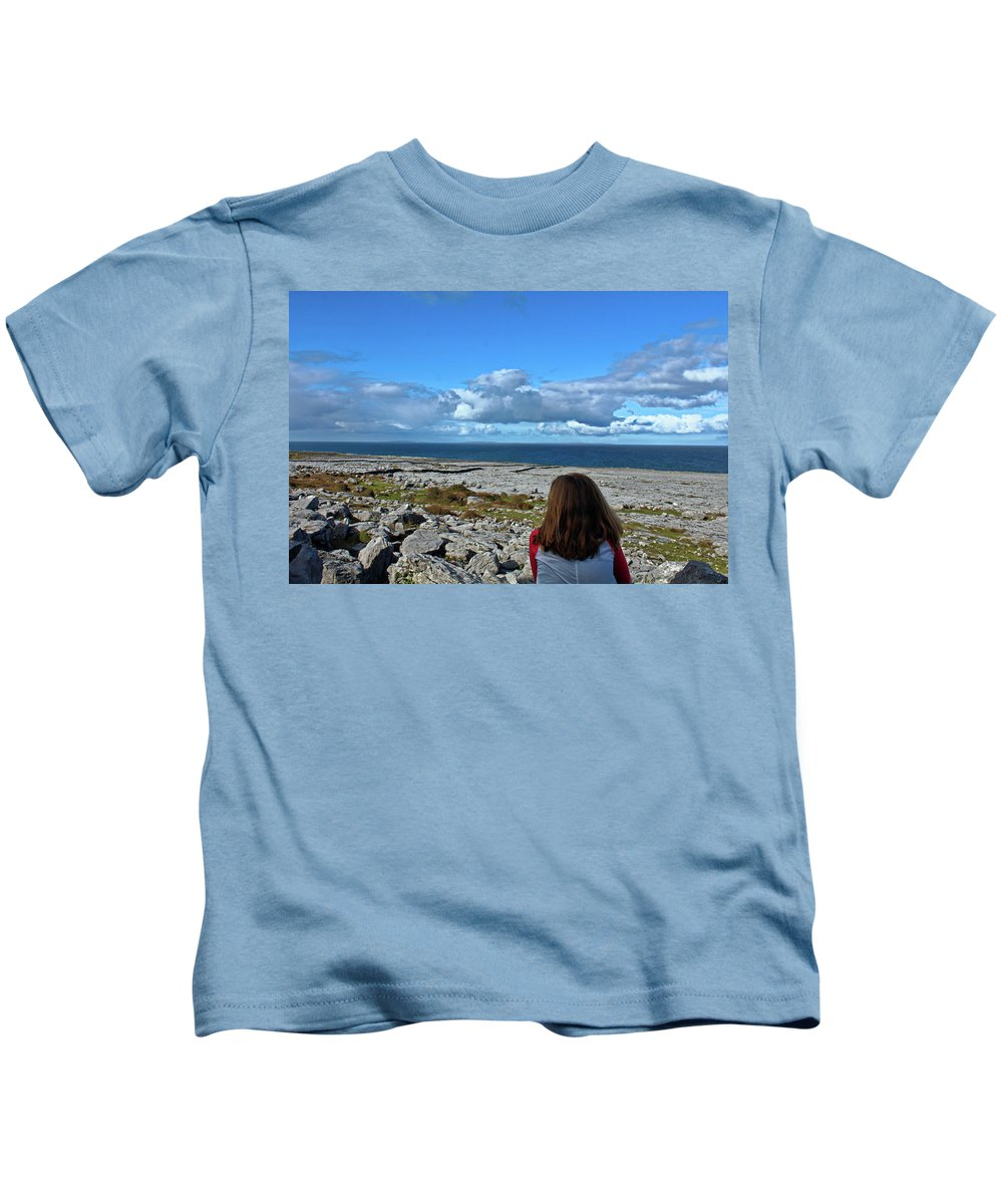 View Kids T-Shirt featuring the photograph Looking At The Beautiful View by Kieran Keliher-Burke