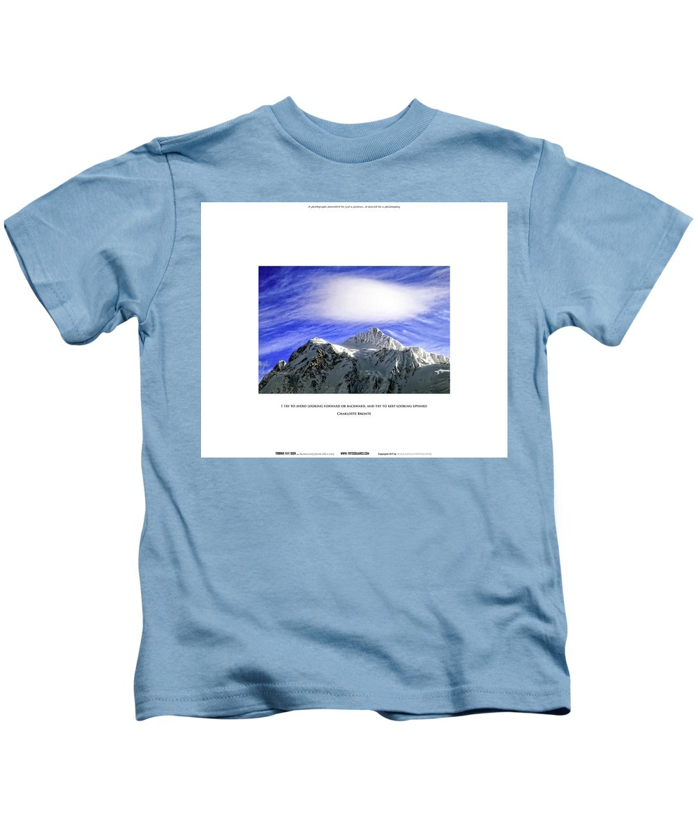 #things Not Seen Kids T-Shirt featuring the photograph Looking Upward by Anka Wong