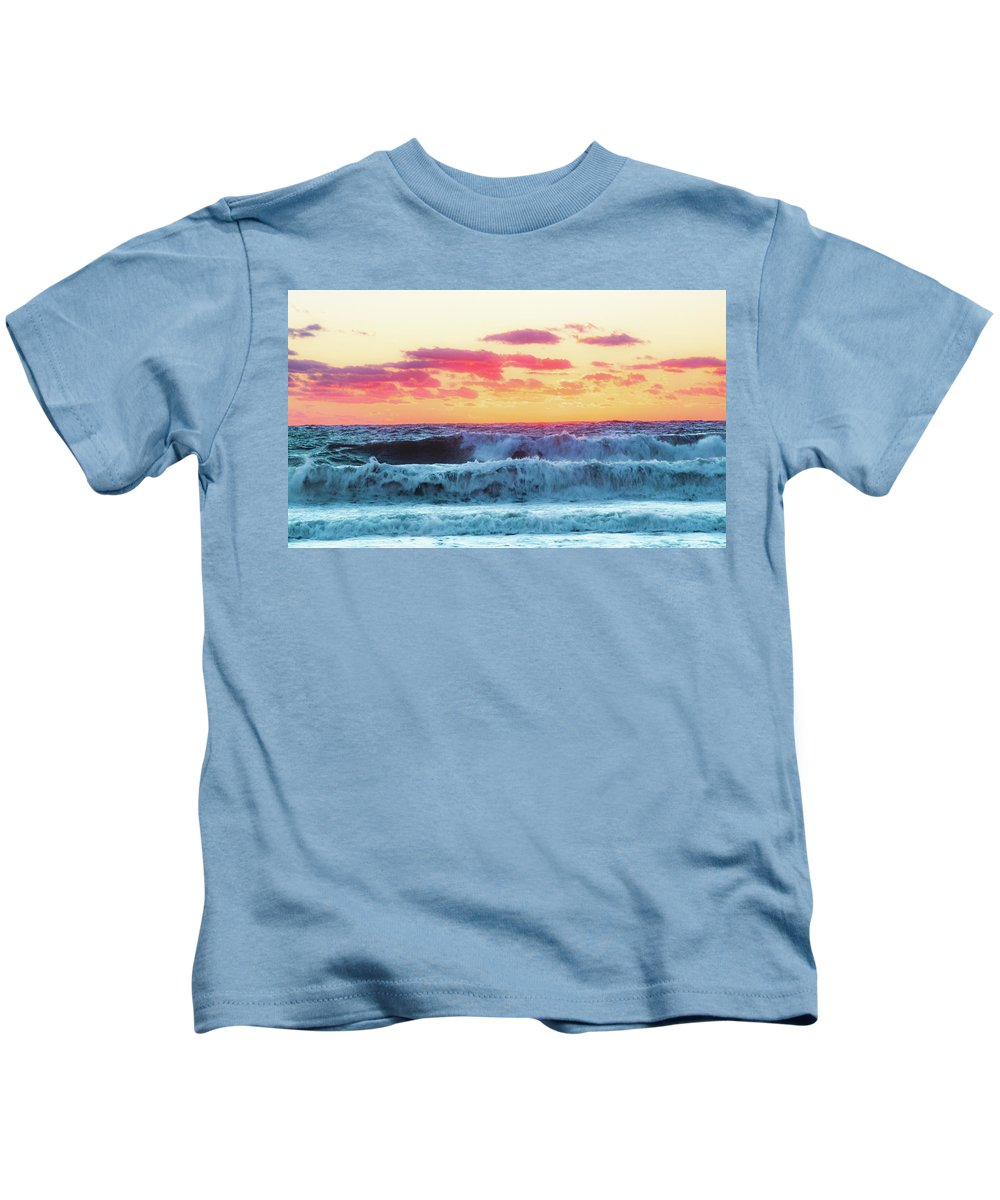 Lucy Vincent Beach Kids T-Shirt featuring the photograph Lucy Vincent Surf by Island Images Gallery