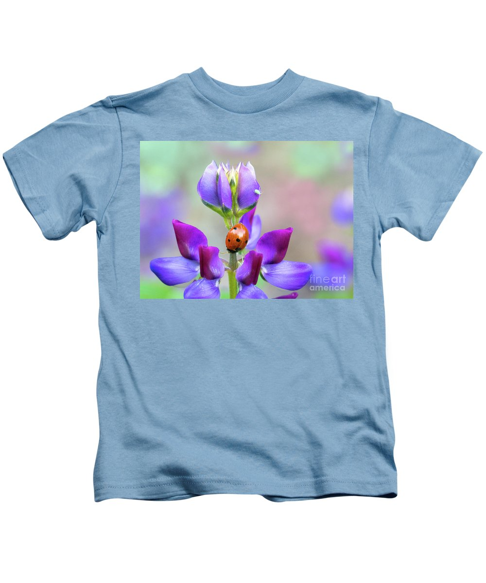 Lupine Kids T-Shirt featuring the photograph Lupine And Friends by Mimi Ditchie