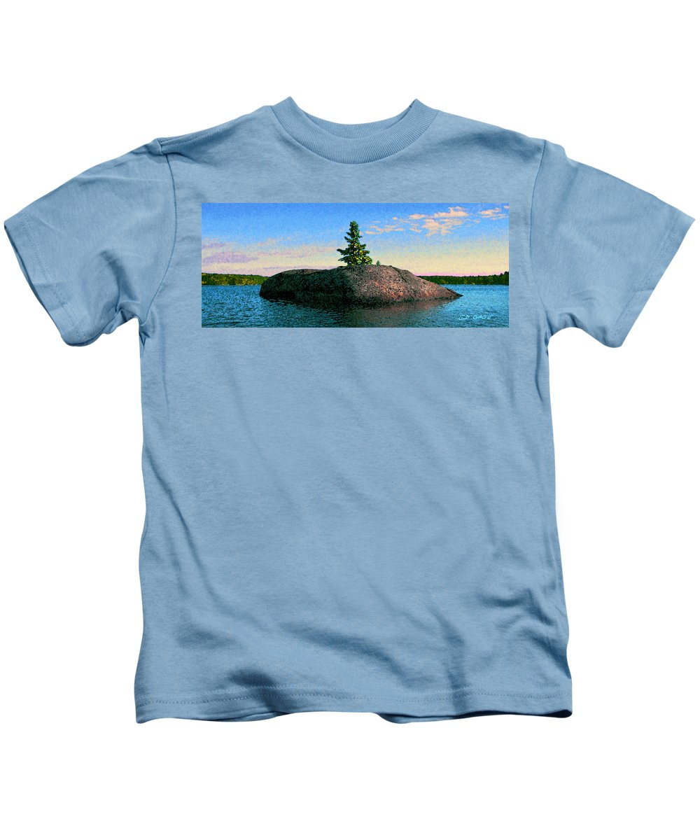 Maine Kids T-Shirt featuring the photograph Maine Stone Island Sunrise by Ed A Gage