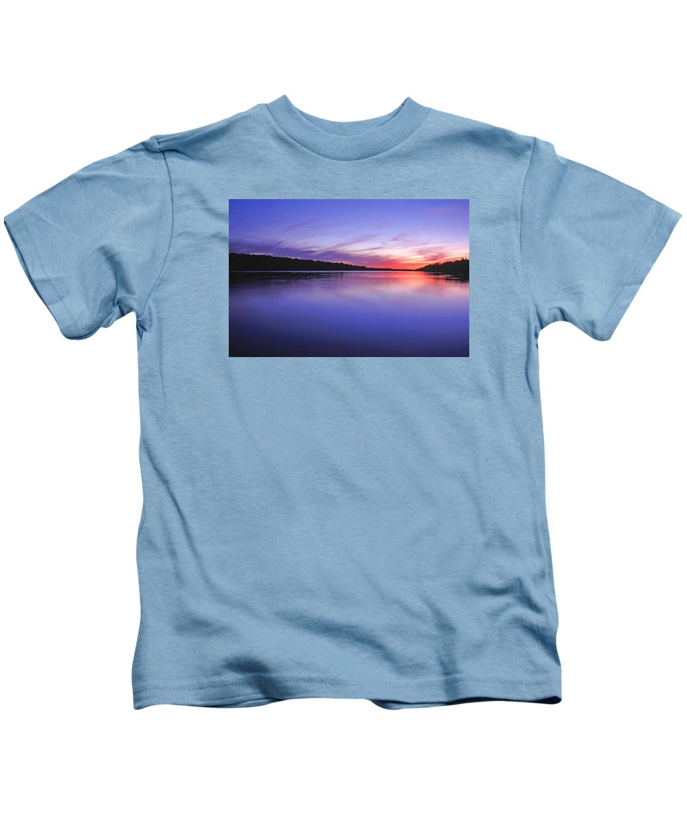 Landscape Kids T-Shirt featuring the photograph Manidooziibi by Bill Morgenstern