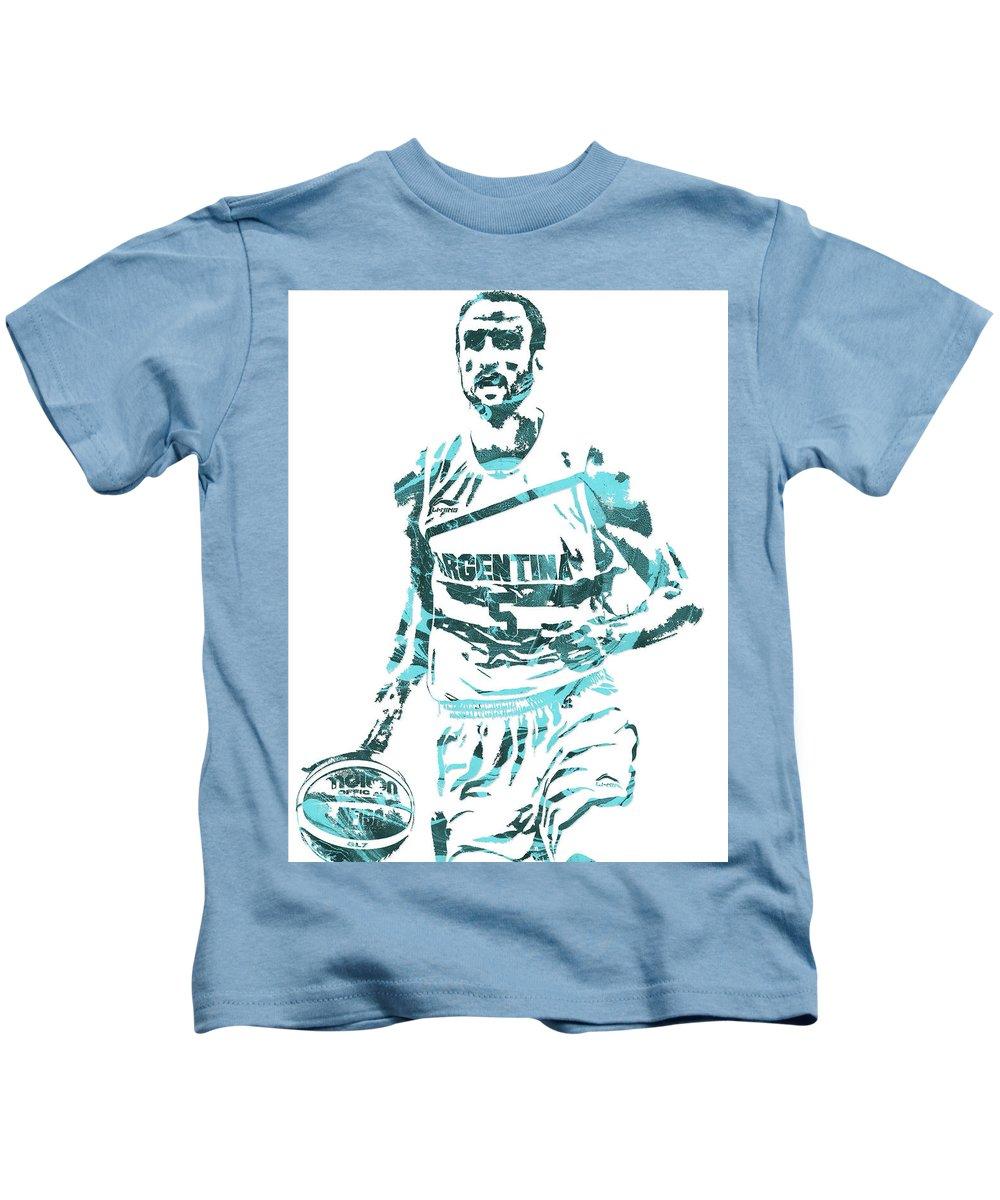 04a99cc0 Manu Ginobili Argentina Pixel Art Kids T-Shirt