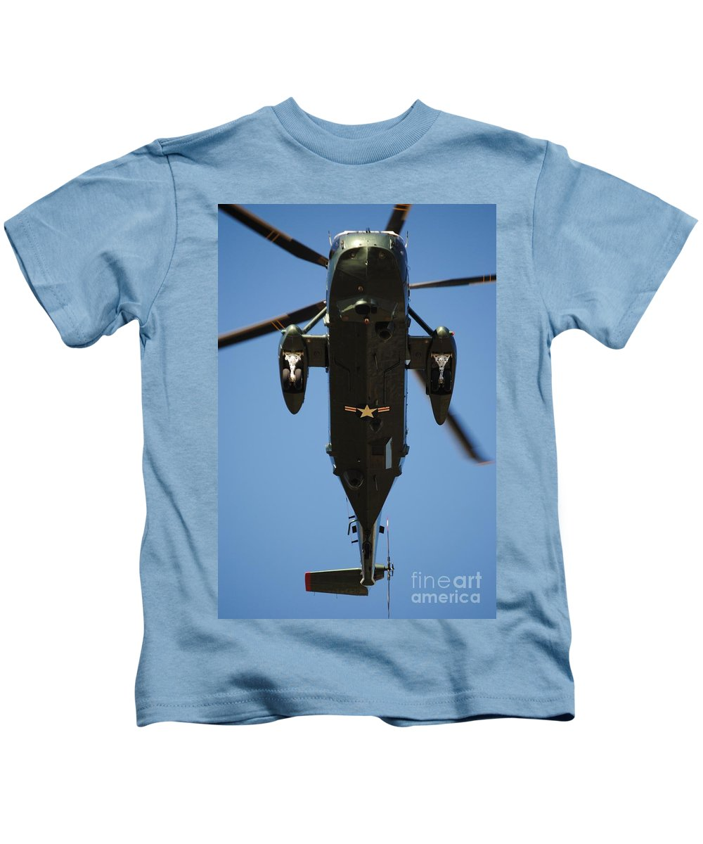 White Kids T-Shirt featuring the photograph Marine One by Jost Houk
