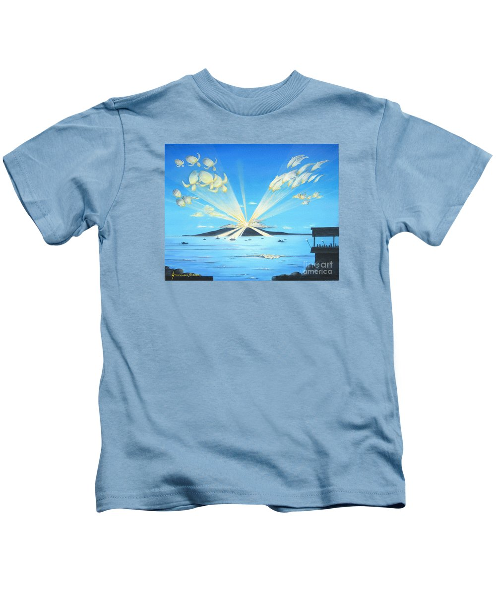 Maui Kids T-Shirt featuring the painting Maui Magic by Jerome Stumphauzer