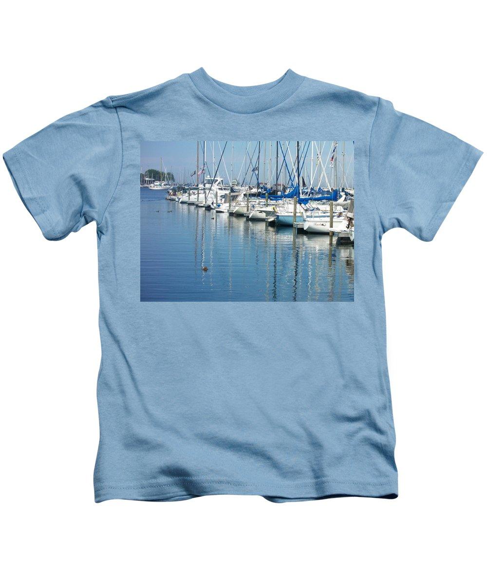 Mckinley Marina Kids T-Shirt featuring the photograph Mckinley Marina 3 by Anita Burgermeister