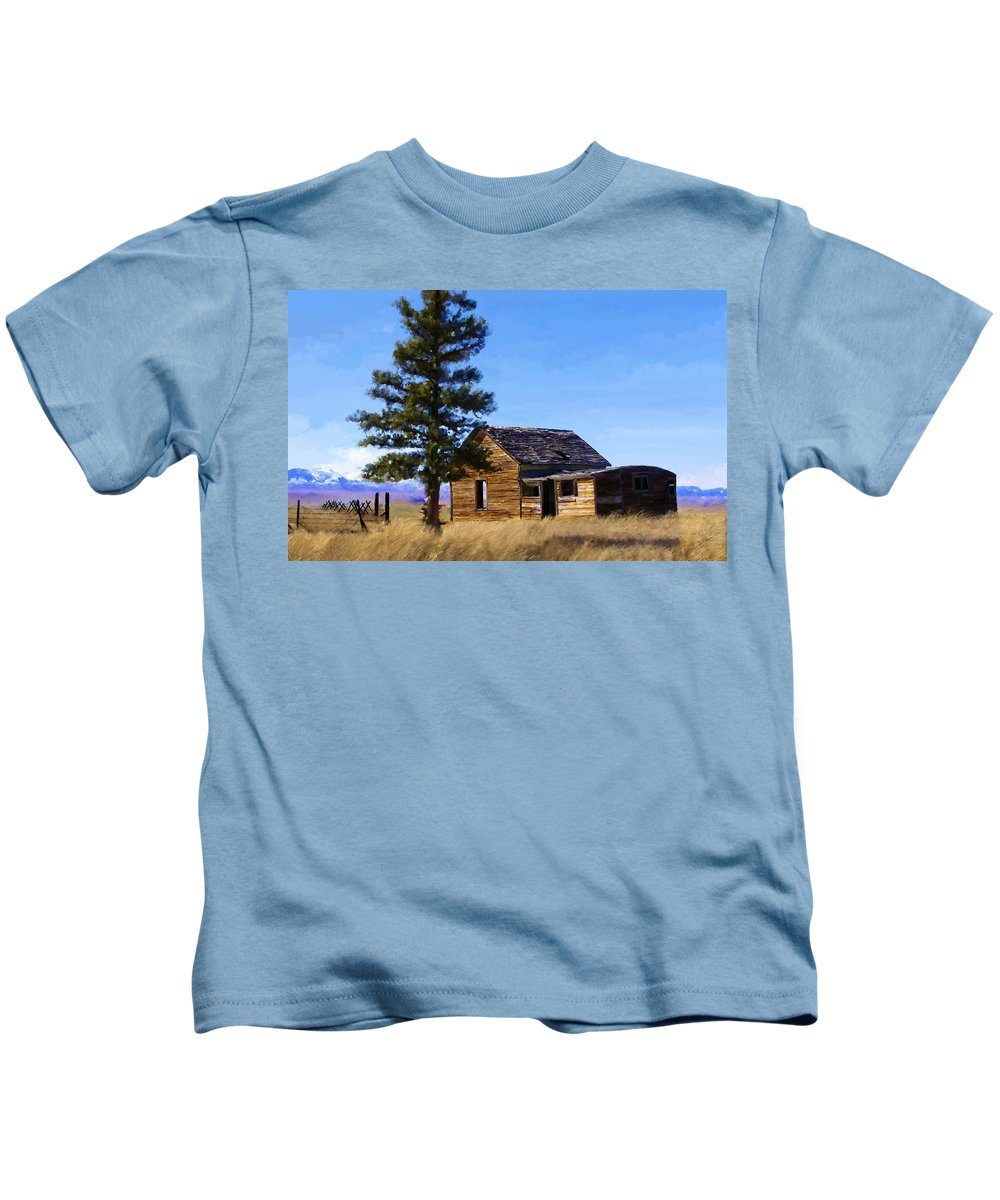 Relic Kids T-Shirt featuring the painting Memories Of Montana by Susan Kinney