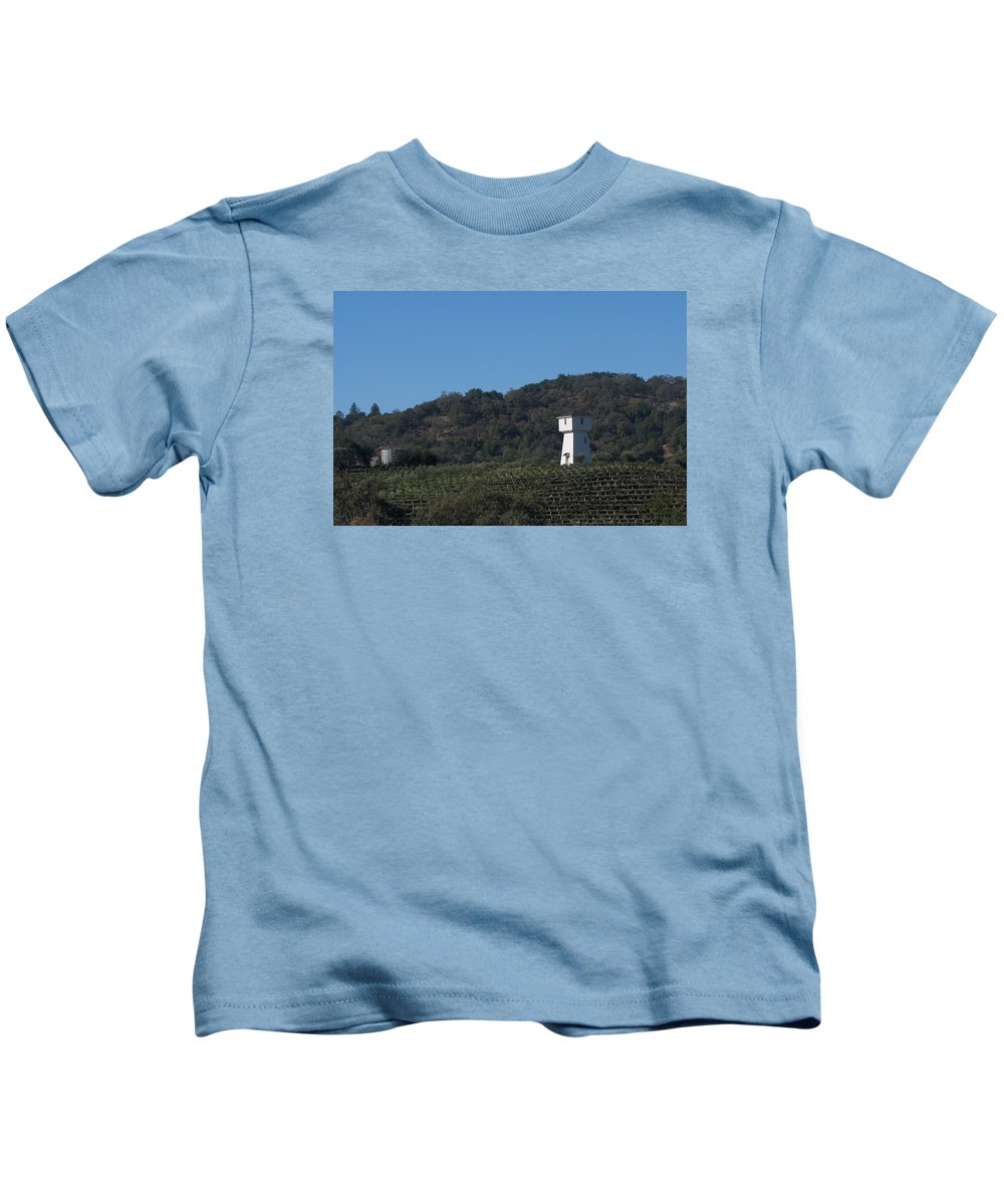 Tankhouse Kids T-Shirt featuring the photograph Mendocino Tankhouse by Grant Groberg
