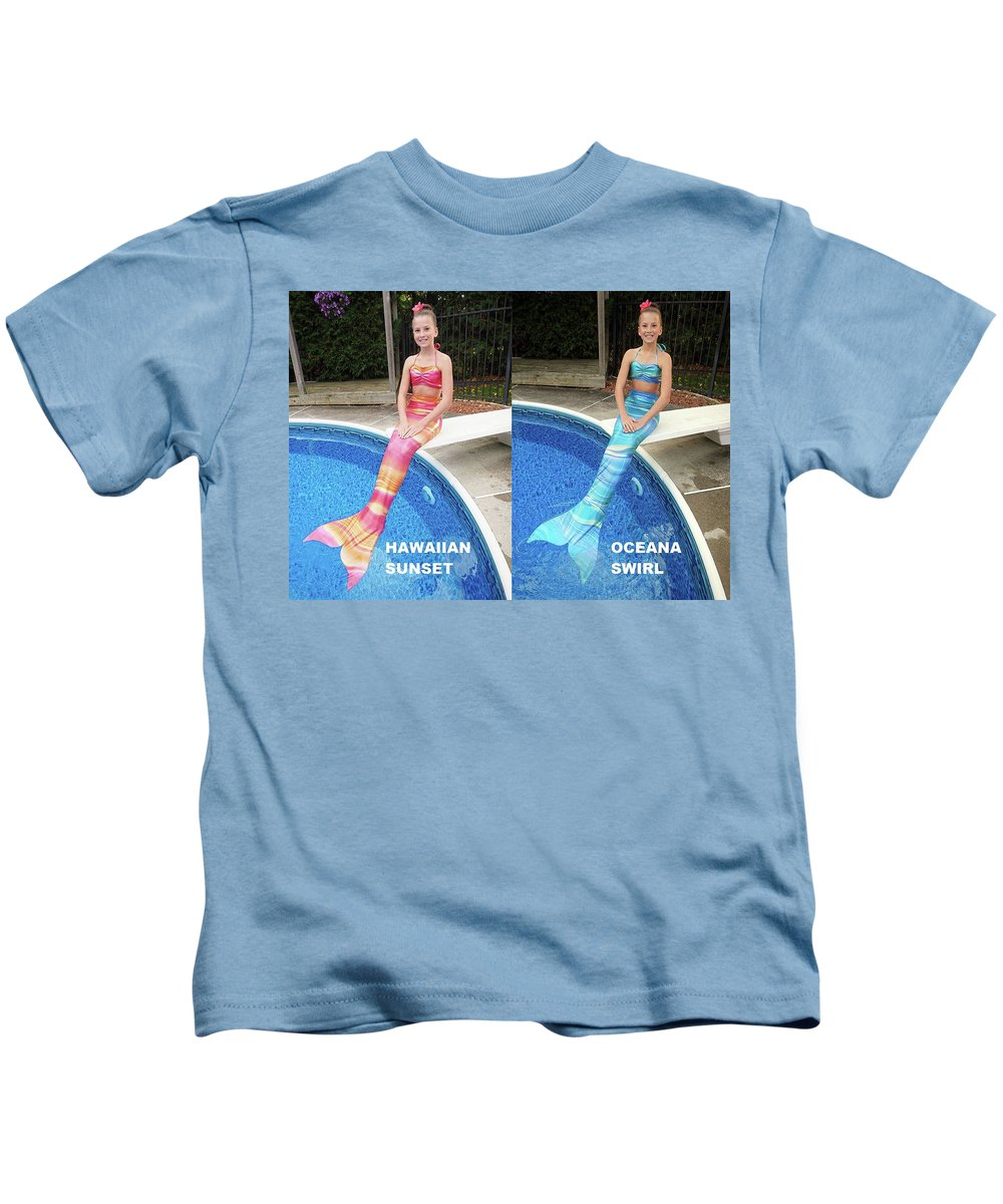 Mermaid Tail For Kids In Canada Kids T-Shirt featuring the digital art Mermaid Costume For Kids In Canada by Fantasyfin