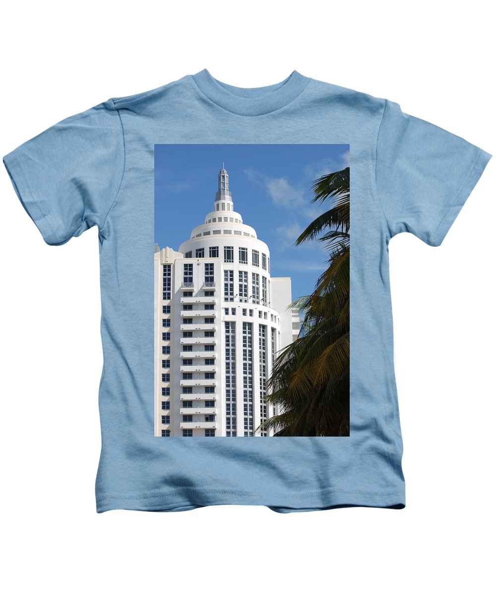 Architecture Kids T-Shirt featuring the photograph Miami S Capitol Building by Rob Hans