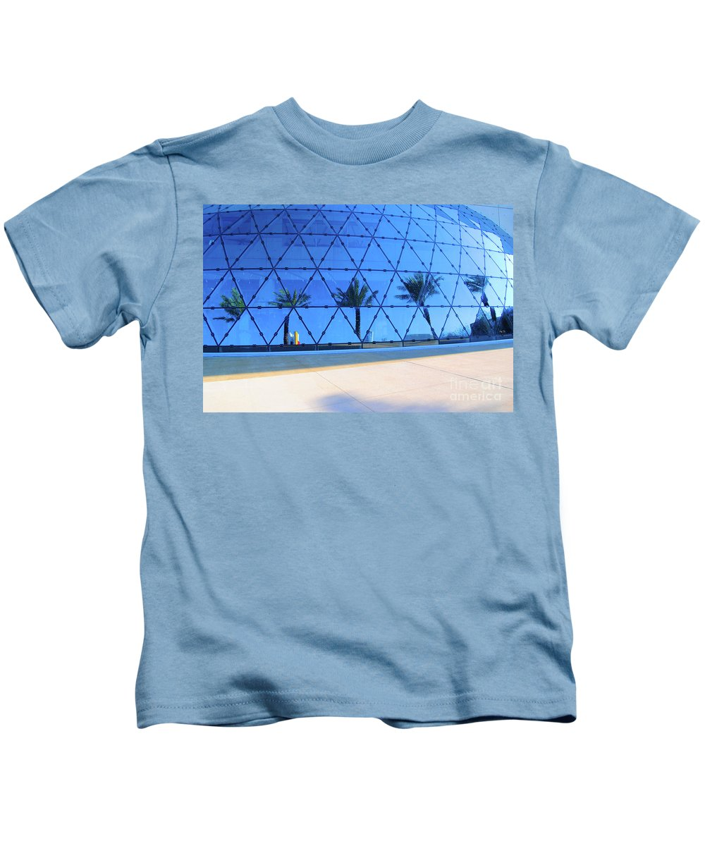Building Kids T-Shirt featuring the photograph Mirror Of Palms by Jost Houk