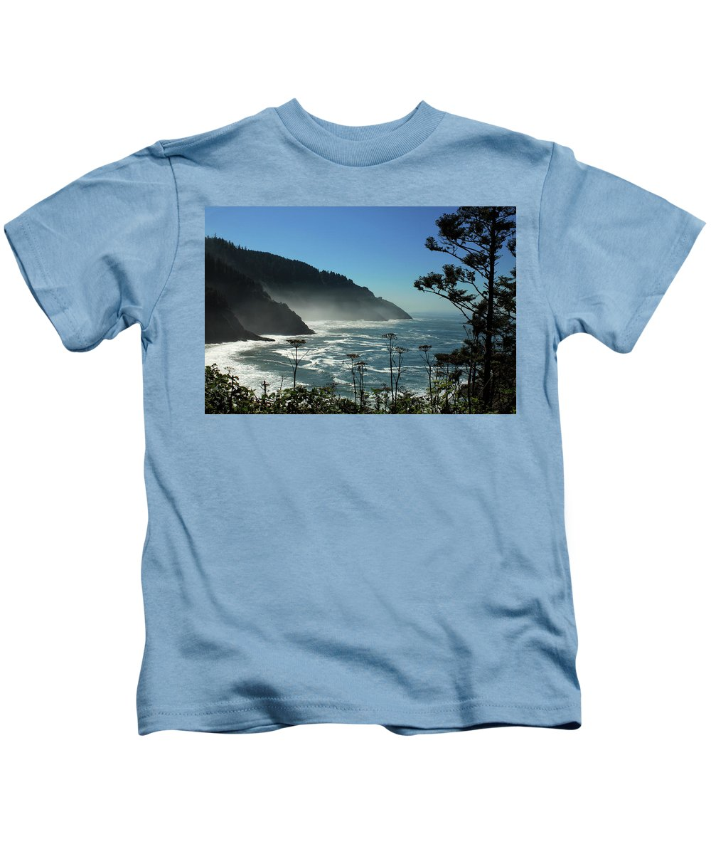 Ocean Kids T-Shirt featuring the photograph Misty Coast At Heceta Head by James Eddy