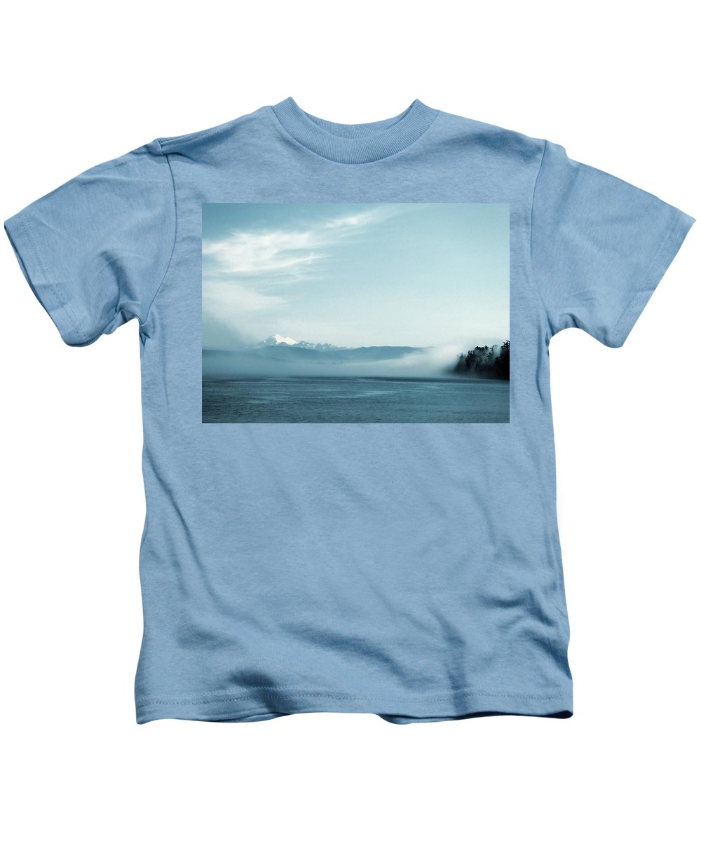 Sea Kids T-Shirt featuring the photograph Misty Morning 2 by Donna Cain