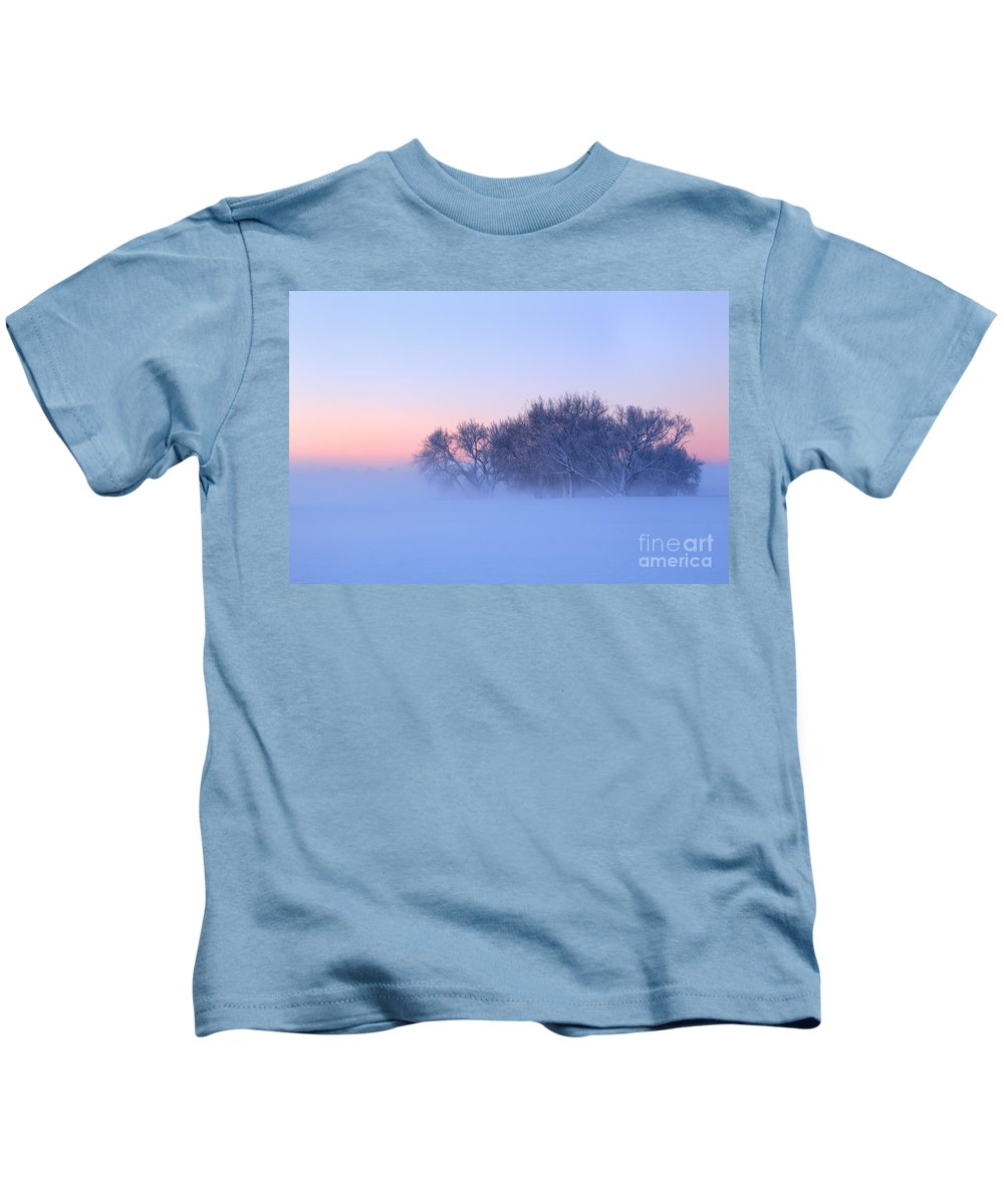Fog Kids T-Shirt featuring the photograph Morning Fog by Ronda Kimbrow
