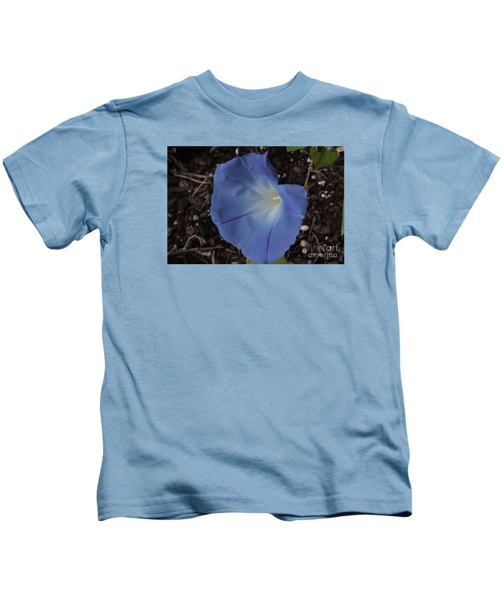 Morning Glory Kids T-Shirt featuring the photograph Morning Glory by Robin Maria Pedrero