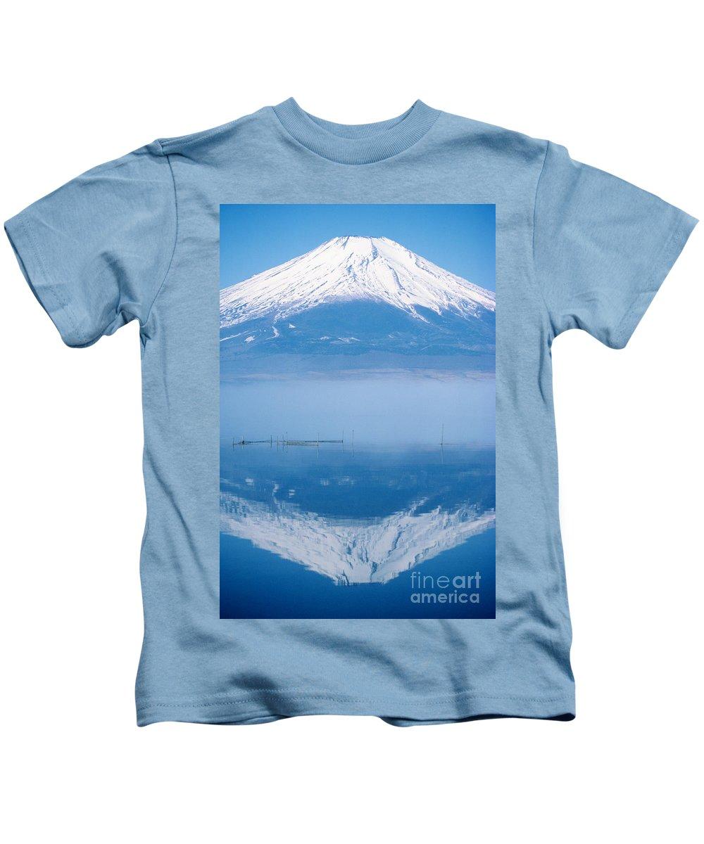Allan Seiden Kids T-Shirt featuring the photograph Mount Fuji by Allan Seiden - Printscapes