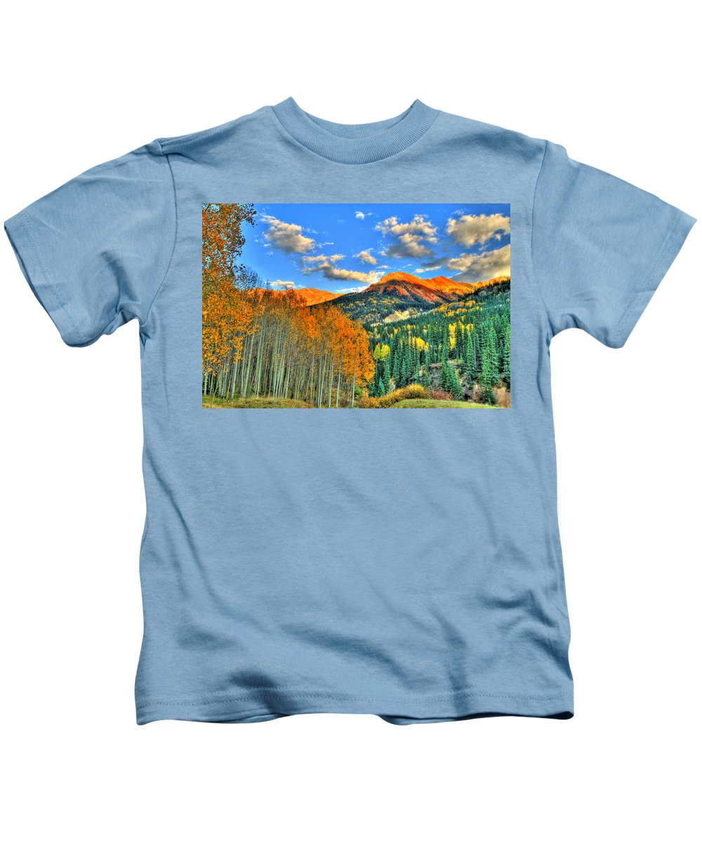 Mountain Kids T-Shirt featuring the photograph Mountain Beauty Of Fall by Scott Mahon