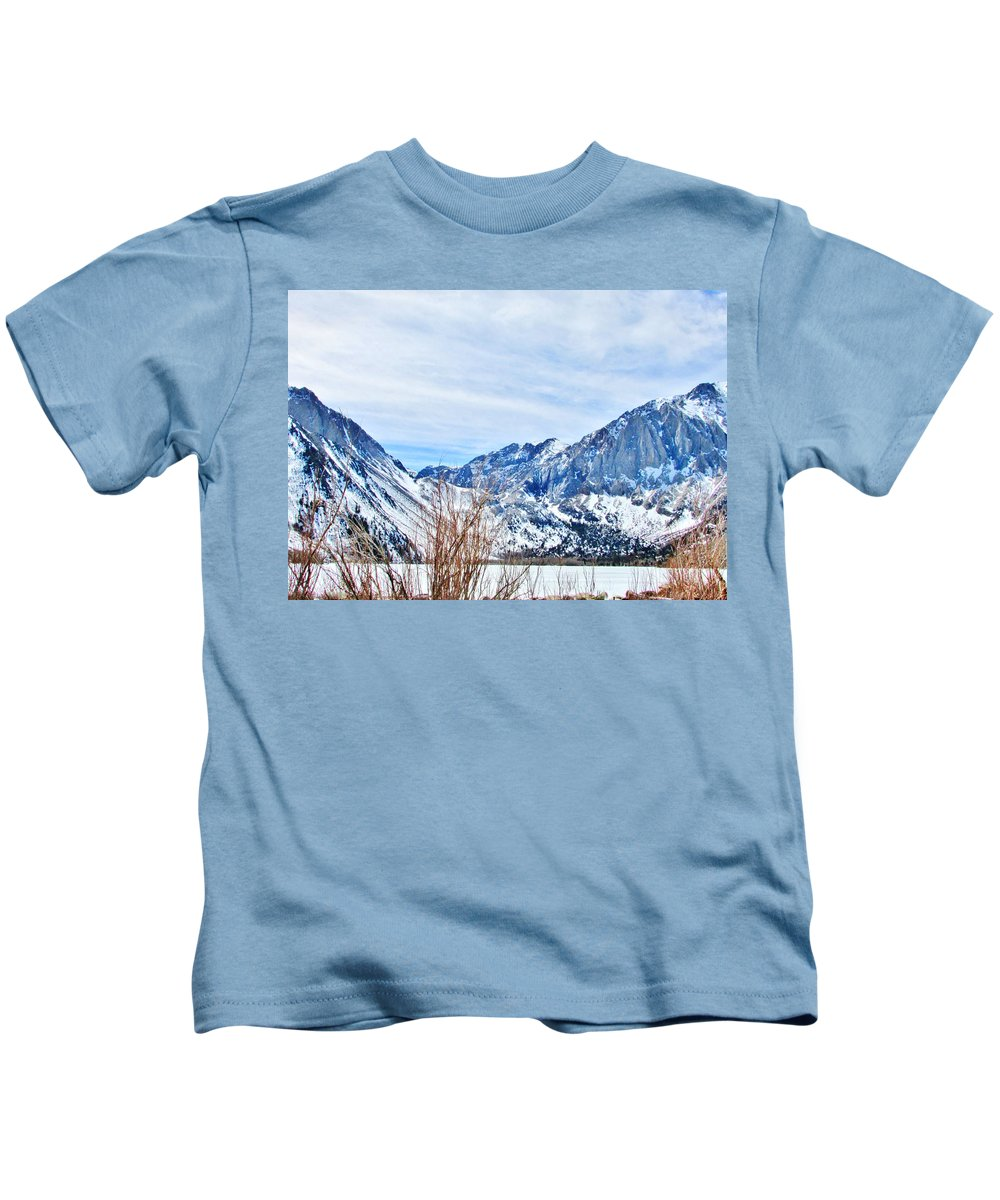 Nature Kids T-Shirt featuring the photograph Mountain Cool by Marilyn Diaz