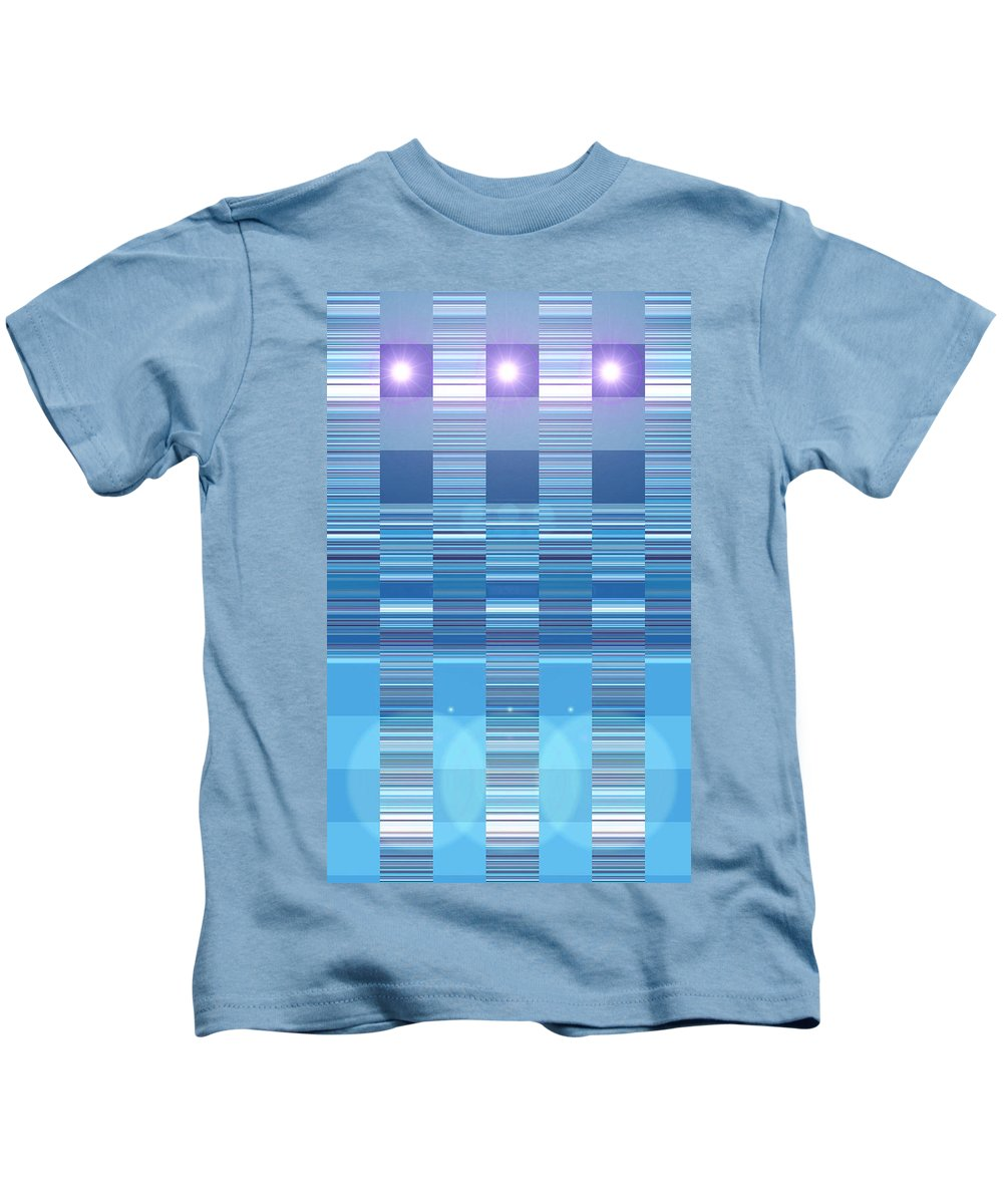 Moveonart! Digital Gallery Kids T-Shirt featuring the digital art Moveonart Aqua Program Four by Jacob Kanduch