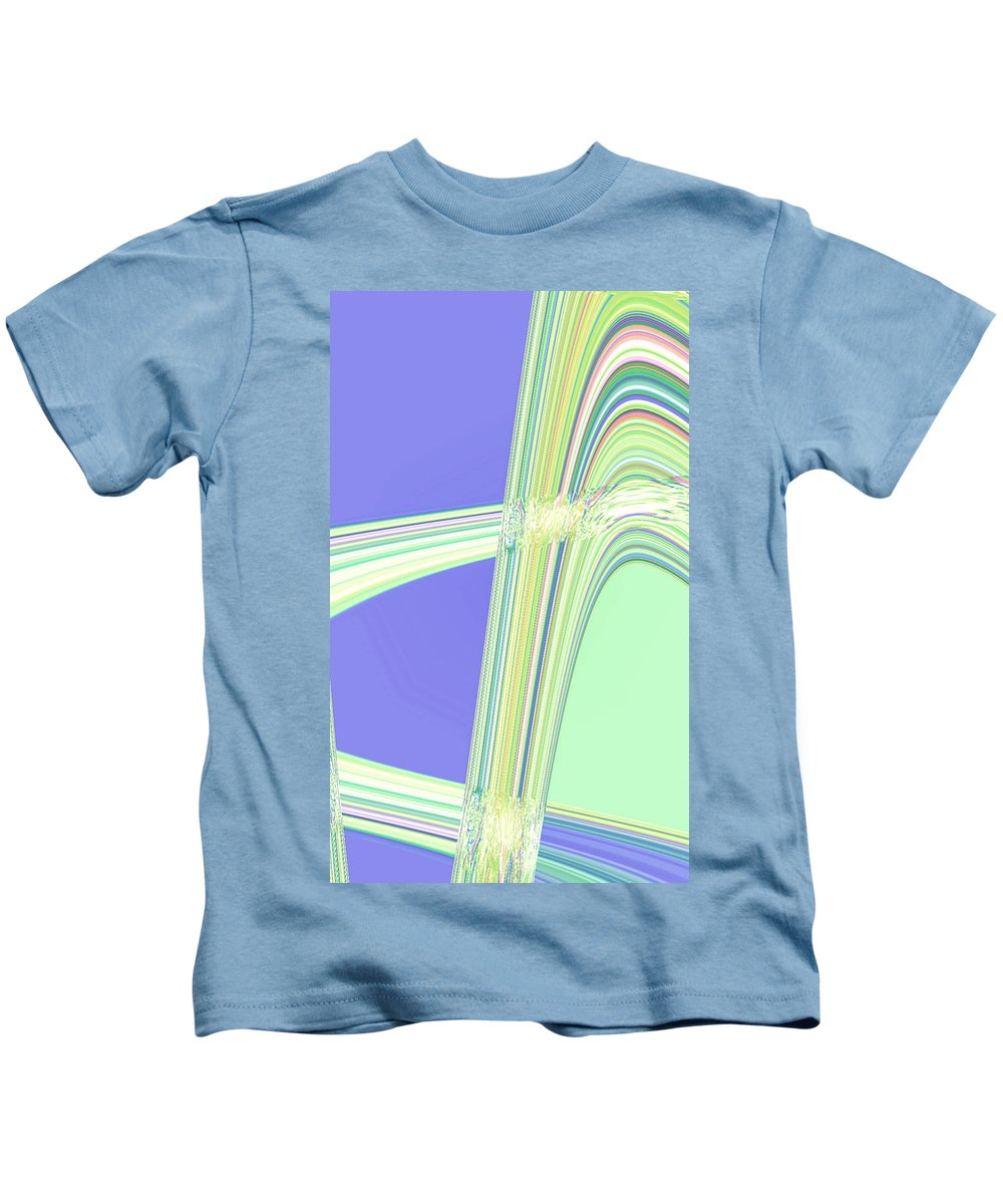Moveonart! Digital Gallery Kids T-Shirt featuring the digital art Moveonart Clean Me Up Wave by Jacob Kanduch