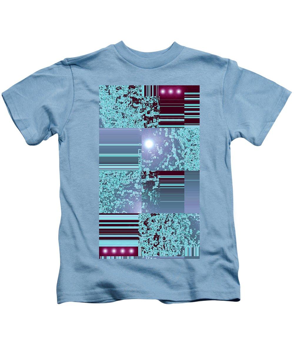 Moveonart! Digital Gallery Kids T-Shirt featuring the digital art Moveonart Inter Dimensional Shift Three by Jacob Kanduch
