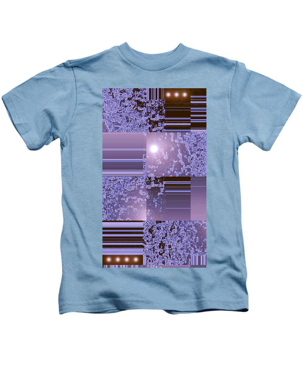 Moveonart! Digital Gallery Kids T-Shirt featuring the digital art Moveonart Inter Dimensional Shift Two by Jacob Kanduch