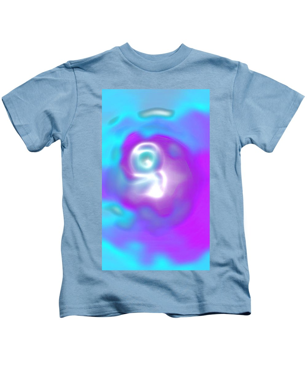Moveonart! Digital Gallery Kids T-Shirt featuring the digital art Moveonart Peaceful Minimal Simple Life by Jacob Kanduch