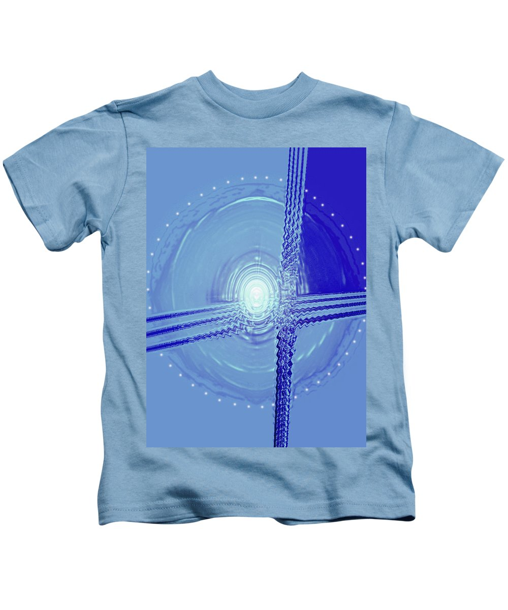 Moveonart! Digital Gallery Kids T-Shirt featuring the digital art Moveonart Shift In Time Four by Jacob Kanduch