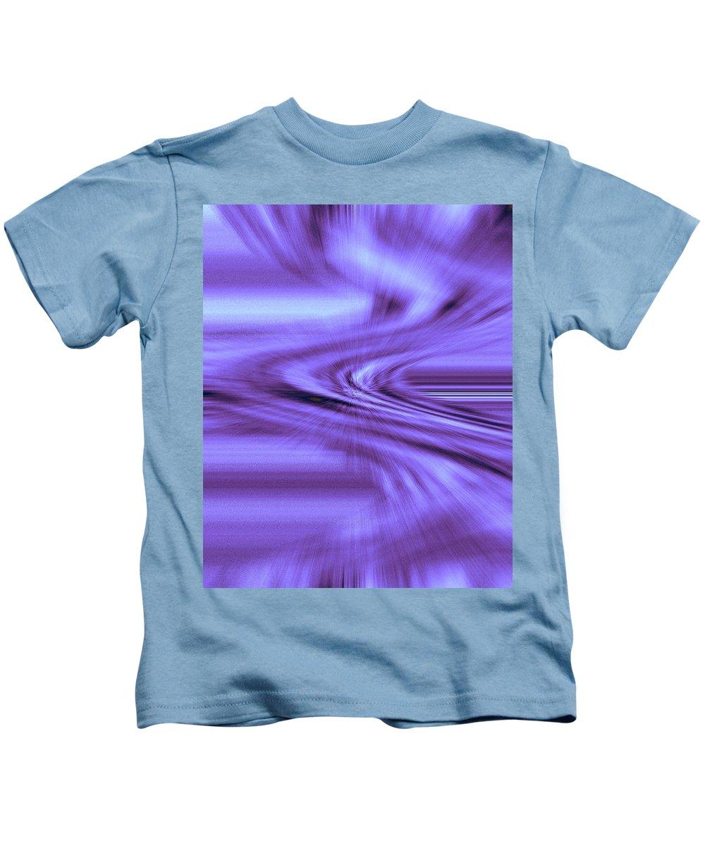 Moveonart! Digital Gallery Kids T-Shirt featuring the digital art Moveonart Steadfast In Spontaneous Storms by Jacob Kanduch
