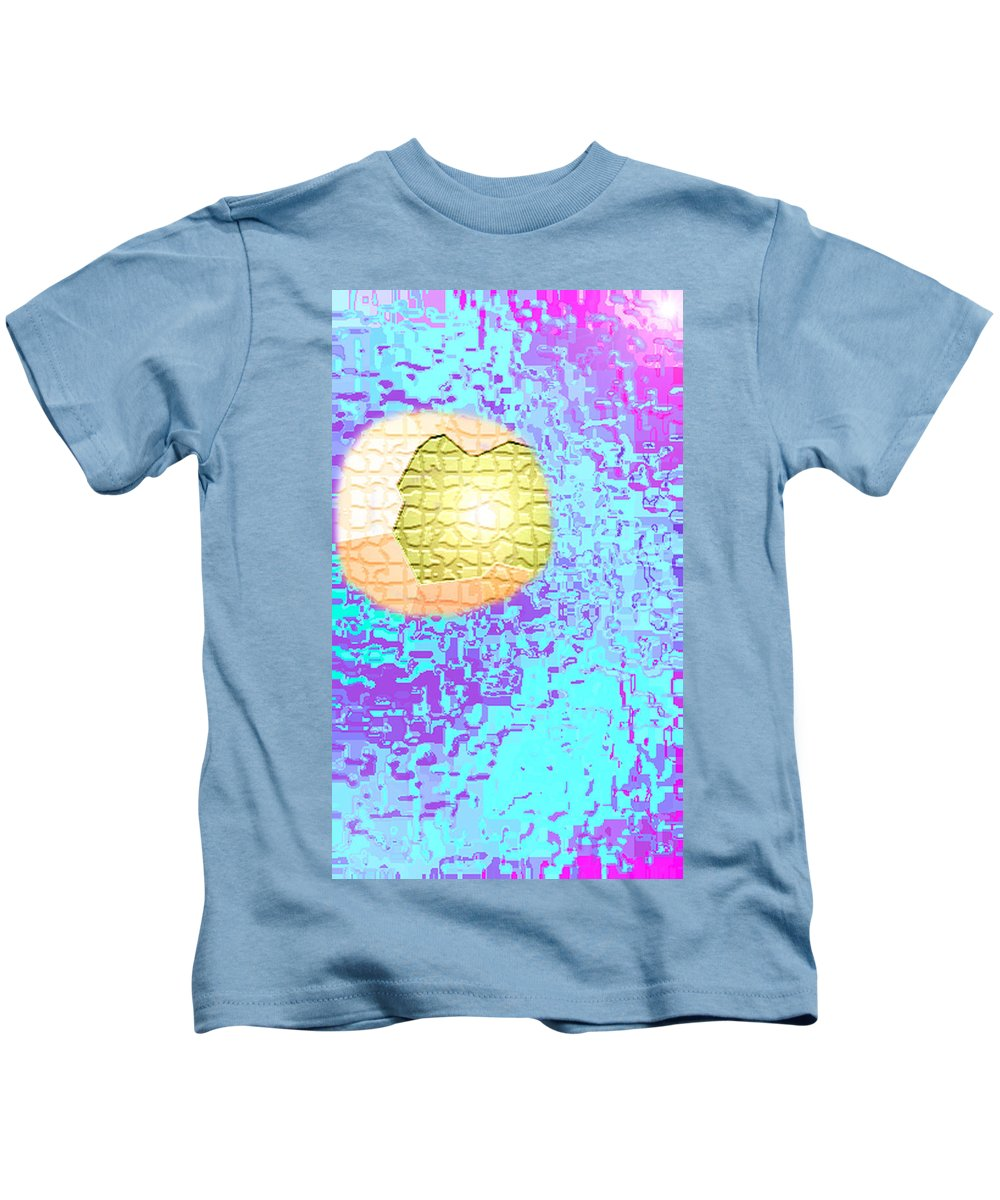 Moveonart! Digital Gallery Kids T-Shirt featuring the digital art Moveonart Urban Light Worker by Jacob Kanduch