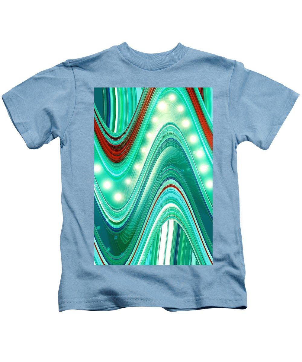 Moveonart! Digital Gallery Kids T-Shirt featuring the digital art Moveonart Wave Of Enlightenment One by Jacob Kanduch
