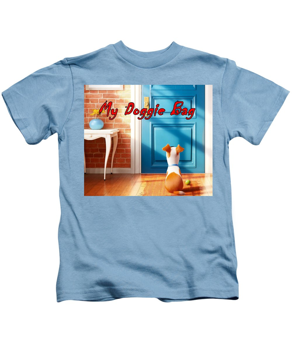 Doggie Kids T-Shirt featuring the digital art My Doggie Bag by Movie Poster Prints