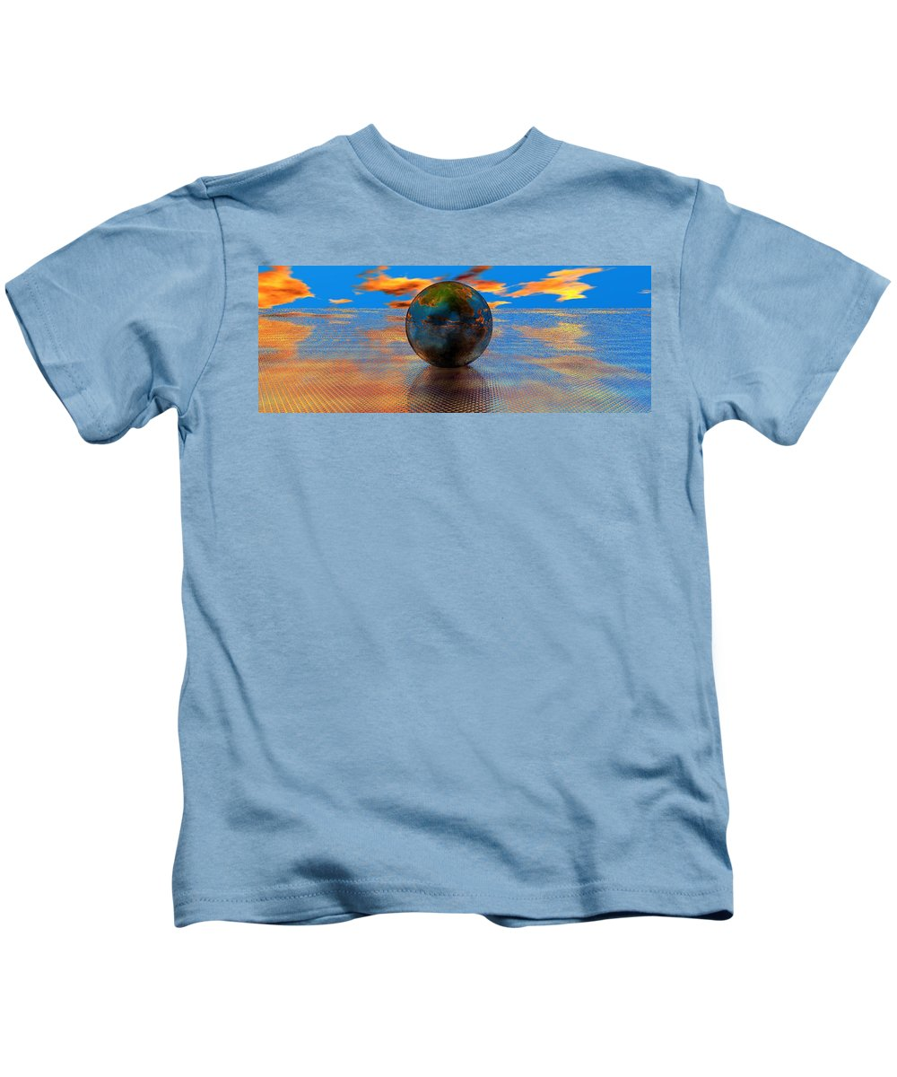 Mystical Kids T-Shirt featuring the digital art Mystical Blue by Oscar Basurto Carbonell