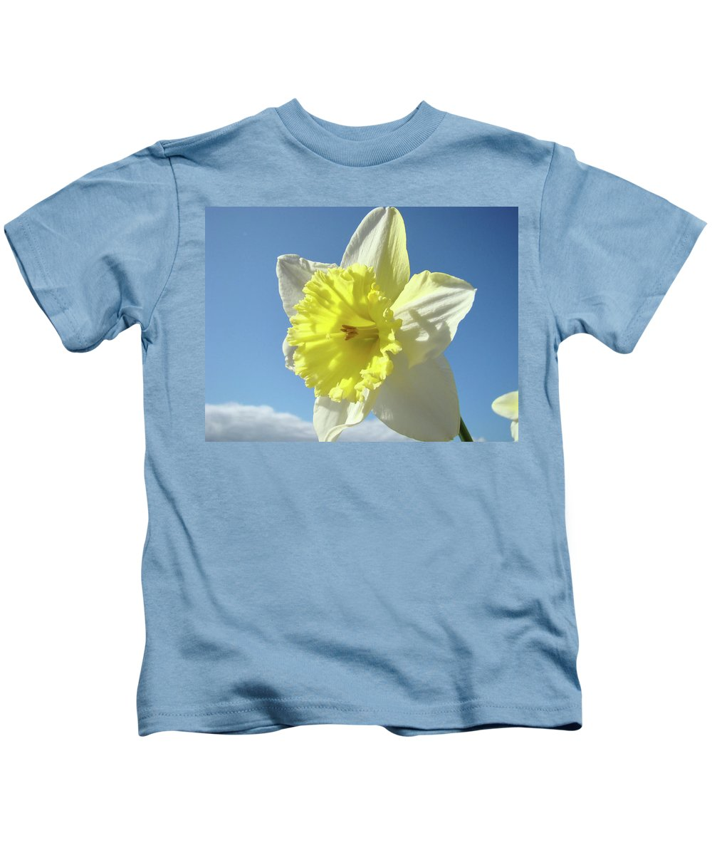 �daffodils Artwork� Kids T-Shirt featuring the photograph Nature Daffodil Flowers Art Prints Spring Nature Art by Baslee Troutman