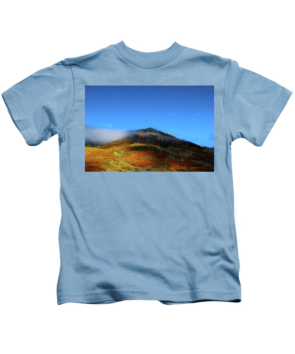 Fall Kids T-Shirt featuring the photograph Natures Paint by Samantha Burrow