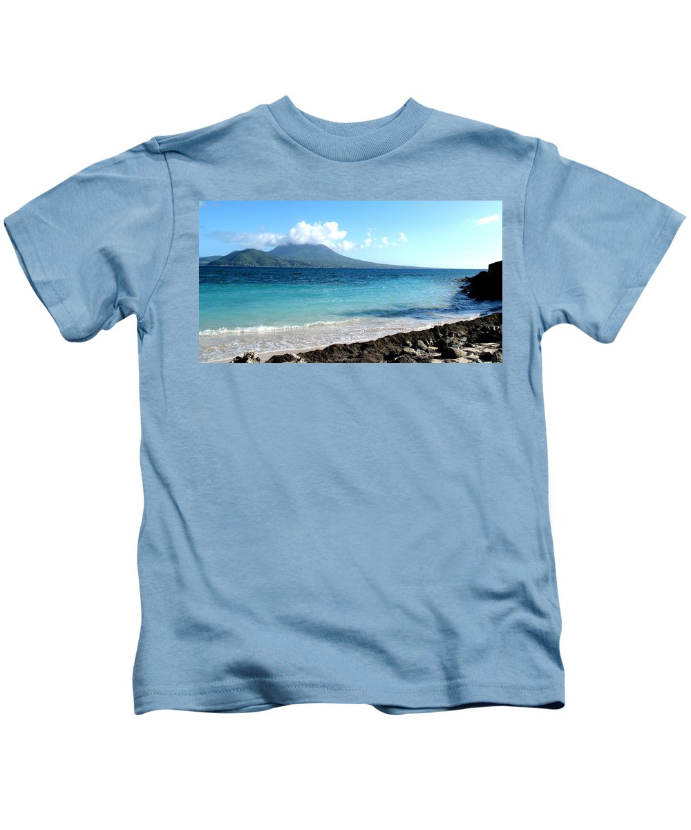 Nevis Kids T-Shirt featuring the photograph Nevis Across The Channel by Ian MacDonald