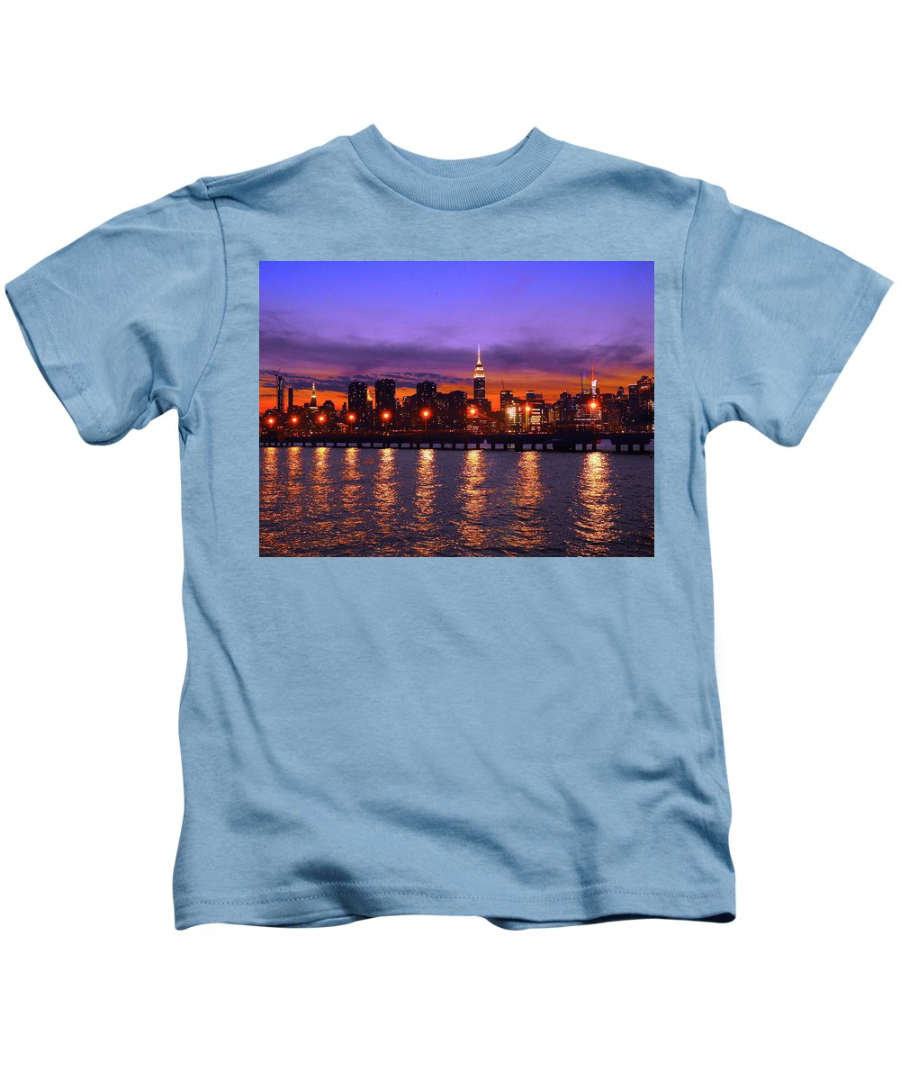 Nyc Kids T-Shirt featuring the photograph New York City by Drew Goehring