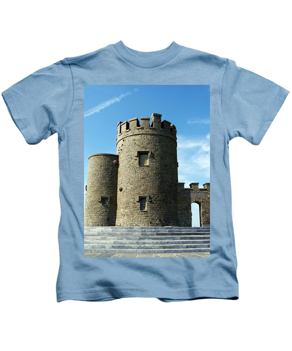 Irish Kids T-Shirt featuring the photograph O Brien's Tower Cliffs Of Moher Ireland by Teresa Mucha