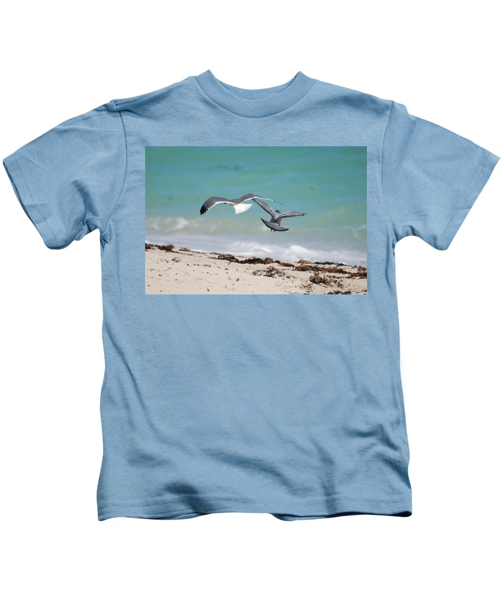 Sea Scape Kids T-Shirt featuring the photograph Ocean Birds by Rob Hans