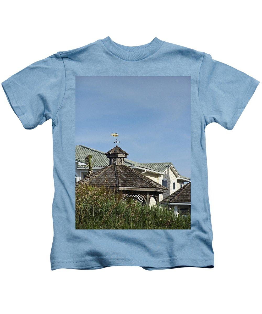 Ocean Kids T-Shirt featuring the photograph Ocean Isle Fish Weathervane by Teresa Mucha