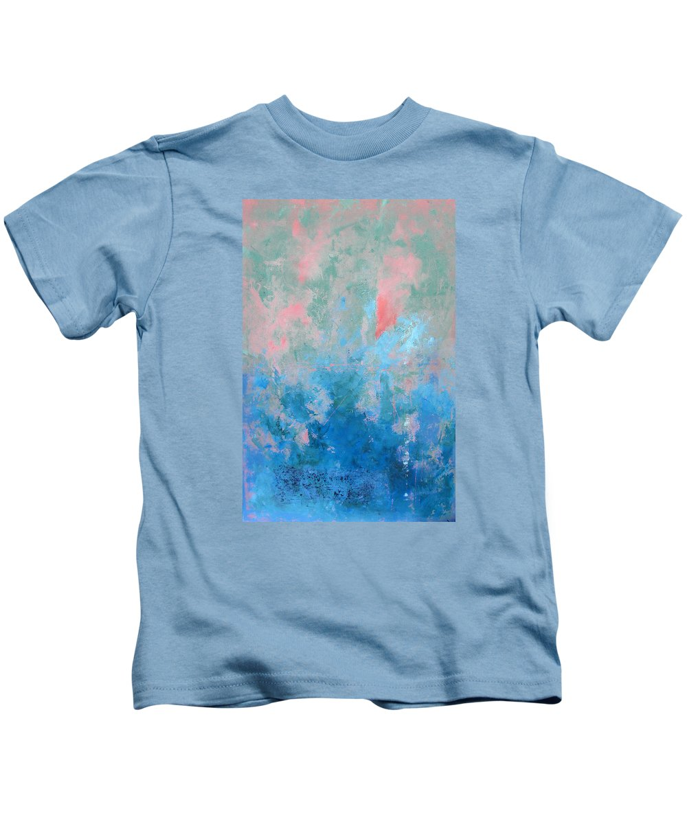 Abstract Kids T-Shirt featuring the painting Ocean Series Xxvii by Michael Turner