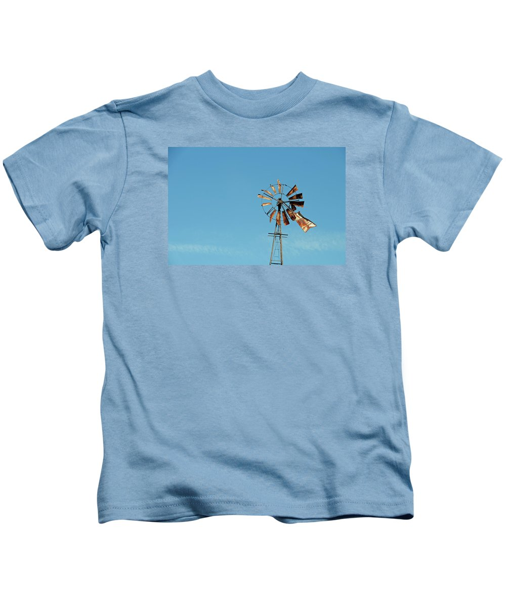 Windmill Kids T-Shirt featuring the photograph Old Rusty by David Arment