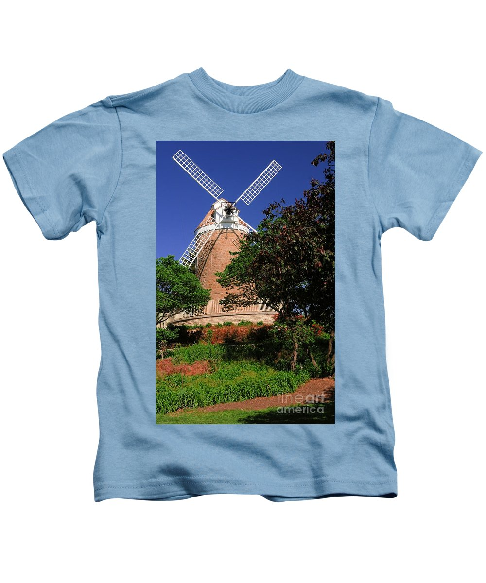 Old Kids T-Shirt featuring the photograph Old Windmill by Kathleen Struckle