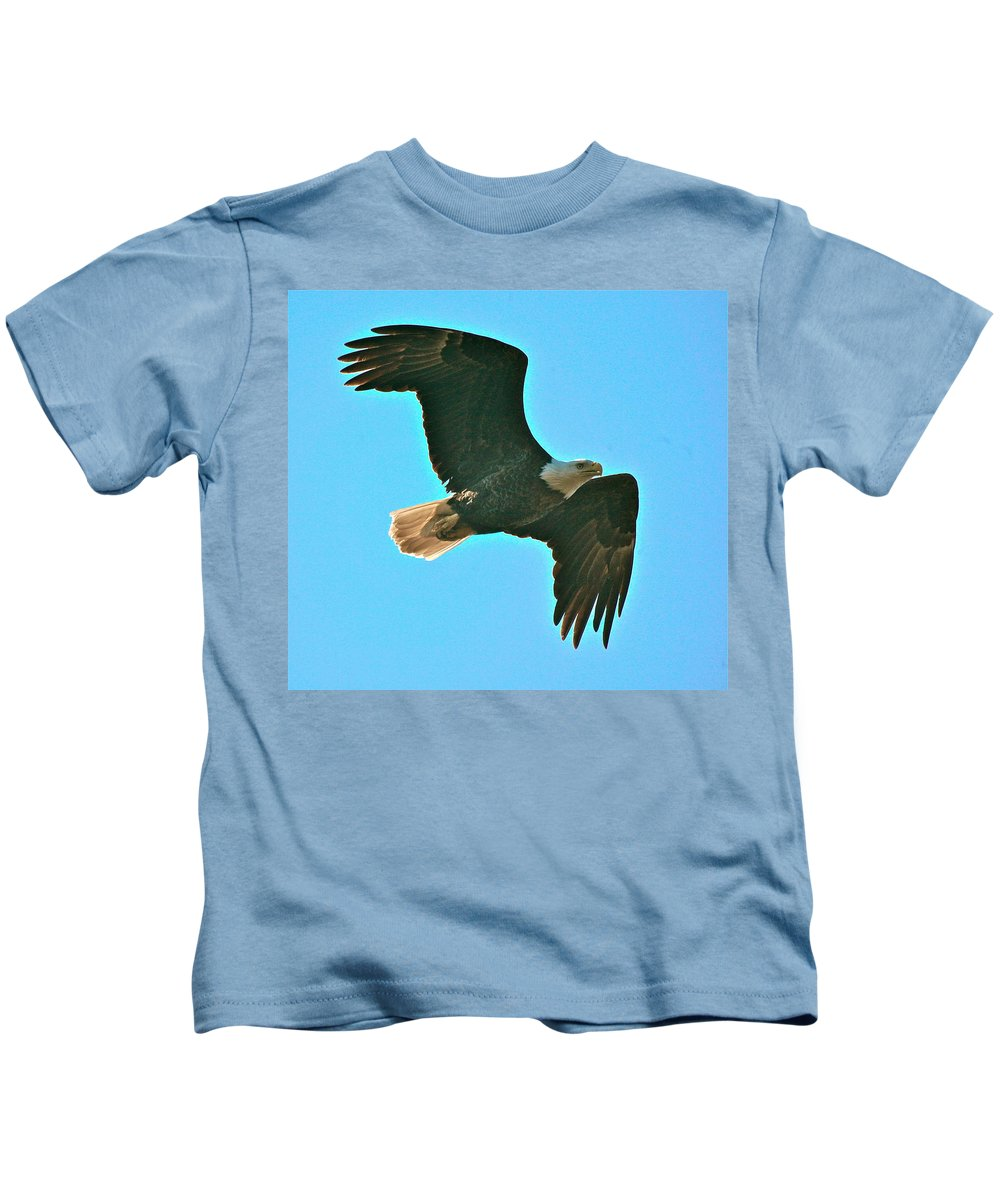 Related Tags: Eagle Artwork Kids T-Shirt featuring the photograph On Patrol by Robert Pearson
