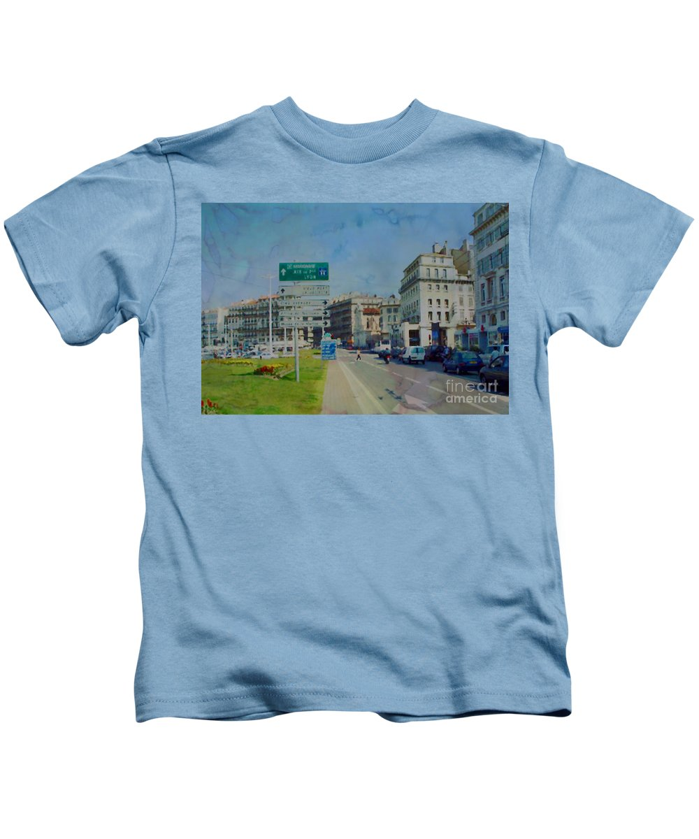 Aix Kids T-Shirt featuring the photograph On The Road To Aix by Paulette B Wright
