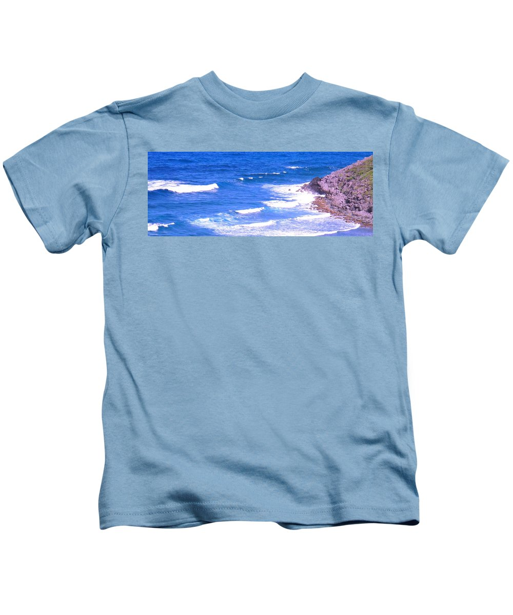 Atlantic Kids T-Shirt featuring the photograph One After Another by Ian MacDonald