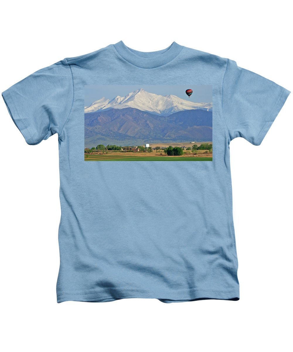 Mountains Kids T-Shirt featuring the photograph Over The Mountains by Scott Mahon